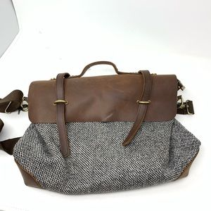Jesslyn Blake Midland Tweed Messenger bag